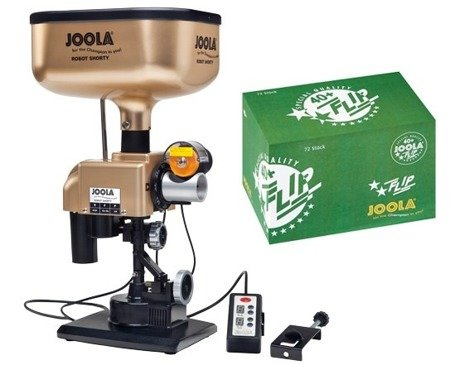 Robot JOOLA Shorty +piłki JOOLA FLIP+40 (72 szt.)